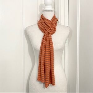 Cut Loose Orange & Gray Striped Super Soft Scarf